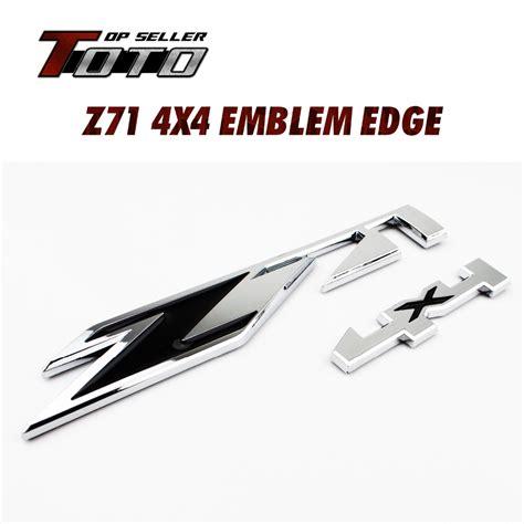Emblem 4 X 4 Original Auto superior quality nameplate auto tailgate car styling black z silver z71 4x4 fender logo 3d