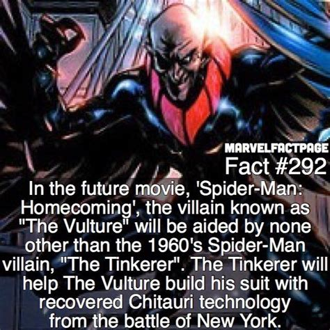 marvel film facts vulture tinkerer spider man homecoming fact qotd how