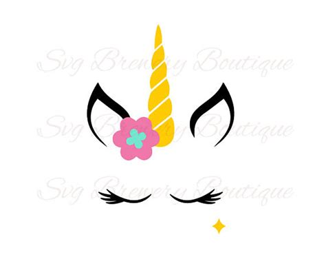 printable unicorn horn unicorn mask horn crown svg layered png dxf pdf for