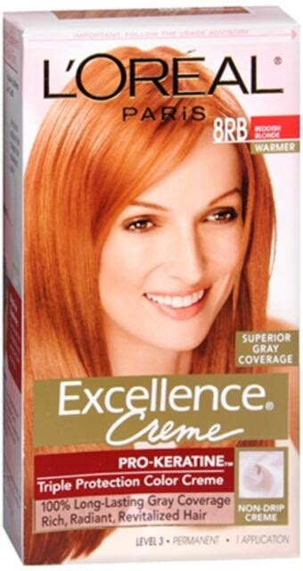 l oreal excellence creme protection color creme level 3 permanent medium ash loreal excellence protection hair color creme 8rb reddish 1 ea ebay