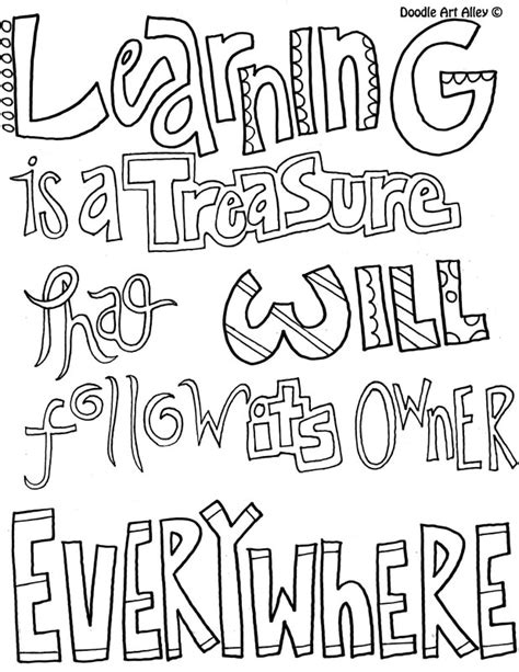 printable doodle quotes learning quote coloring pages doodle art alley