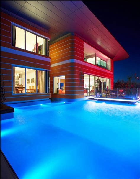 attractive led lighting ideas for contemporary homes vibrant pop art inspired house by award winning architects