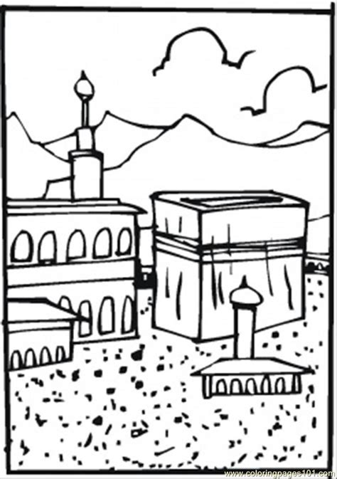 Hajj Coloring Pages coloring pages hajj other gt religions free printable