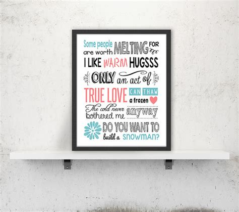 printable frozen movie quotes disney frozen quote art print printable poster digital print