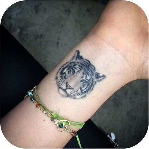 small tiger tattoo tiger wrist best ideas gallery