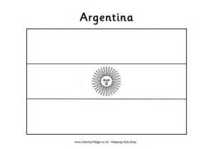 Argentina Flag Outline by Argentina Flag Colouring Page