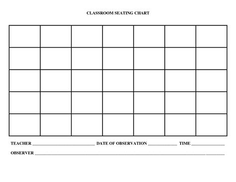 Blank Charts Template Printables And Menu Blank Chart Template