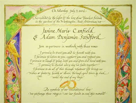 marriage certificate with animals