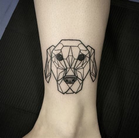 golden tattoo origami style modeled after my golden retriever