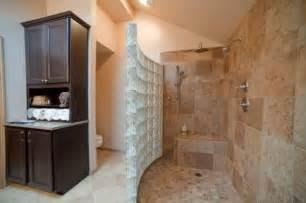 Doorless walk in shower walk in shower bathroom remodel ideas