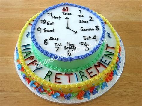 Retirement Cake Decorations by Retirement Cakes On Cakes