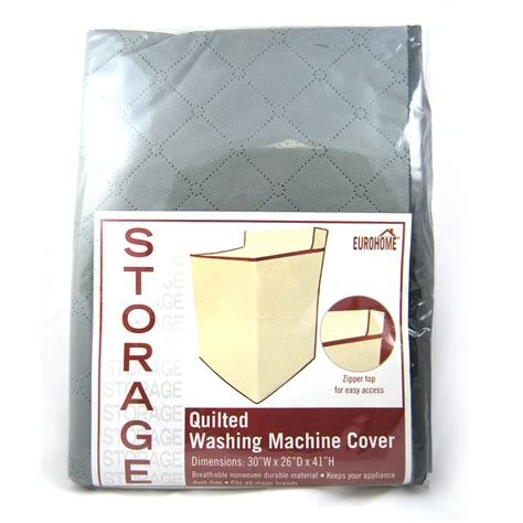 Quilted Cover by Fabric Zippered Zipper Top Quilted Washing Machine Dryer