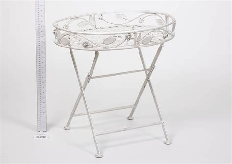 french style folding butlers tray cream indoor