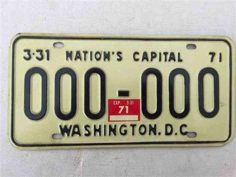 Nh Dmv Vanity Plates by 1971 Washington D C Sle License Plate 000 000 Dc 71