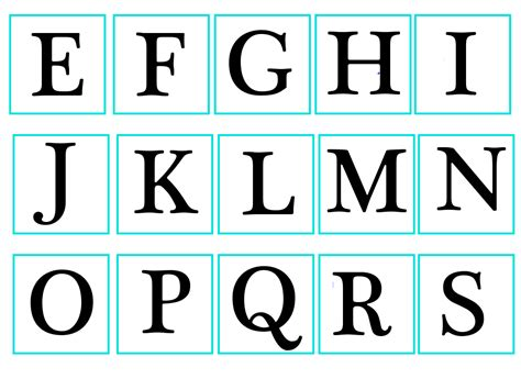 lettere da ritagliare alfabeto da stare jl09 187 regardsdefemmes