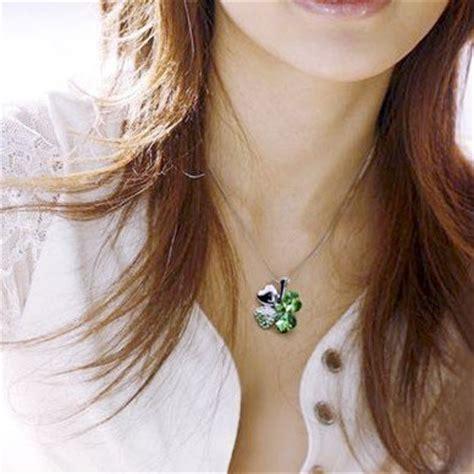 Kalung Aksesoris Wanita 11 classic lucky clover necklace pendants necklace 925 sterling silver kalung wanita