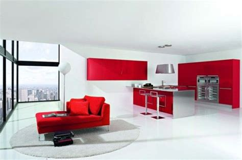 color in design white not ideas for decorating with white dise 241 os cocinas modernas rojo y blanco