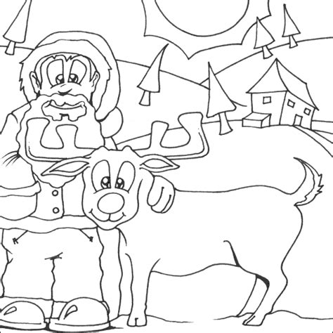 rudolph coloring pages for kids freecoloring4u com