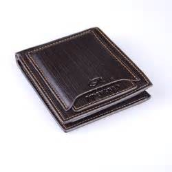 mens leather wallet pockets id credit card holder clutch bifold money clip purse ebay