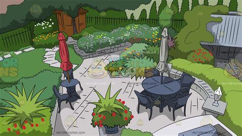 classic backyard background clipart cartoons