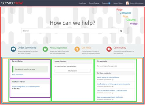 servicenow layout servicenow portal themes pictures to pin on pinterest