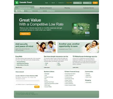 td bank official website 25 awesome redesign concepts webdesigner depot