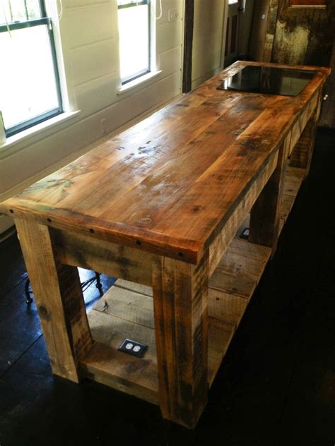crafted rustic kitchen island by e b mann