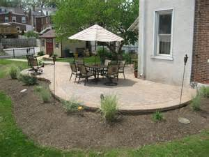 slightly raised ep henry curved patio traditional