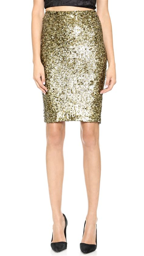 gold sequin pencil skirt lookup beforebuying