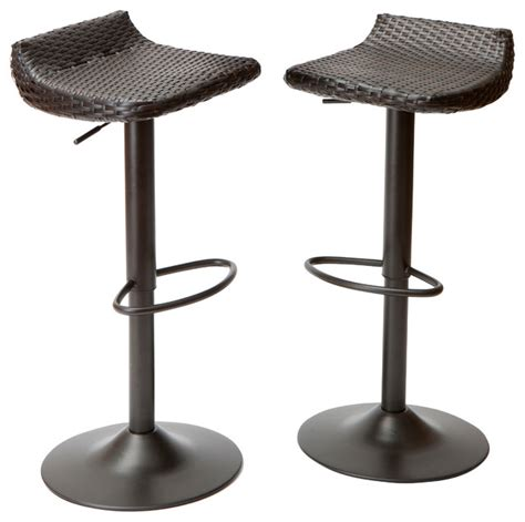 deco woven outdoor barstools set of 2 modern outdoor