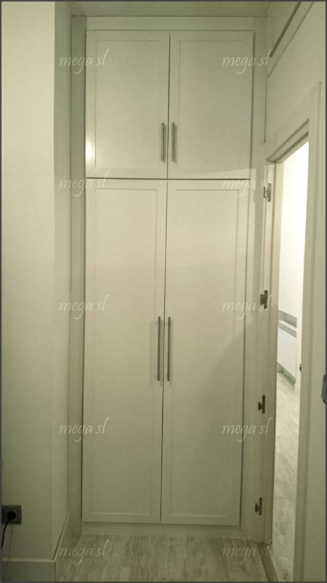 frente de armario abatible en melamina blanca  maletero ideas armarios