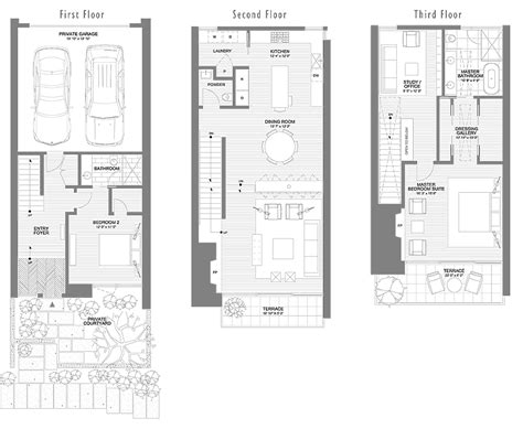 townhome floor plan 1750 lake washington blvd north luxury townhome condominiums