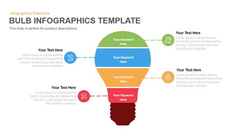 infographic template powerpoint free bulb infographics template powerpoint and keynote template