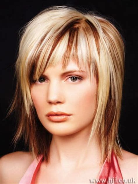 mid length choppy haircut pictures mid length choppy layered hairstyles for women 3 dark