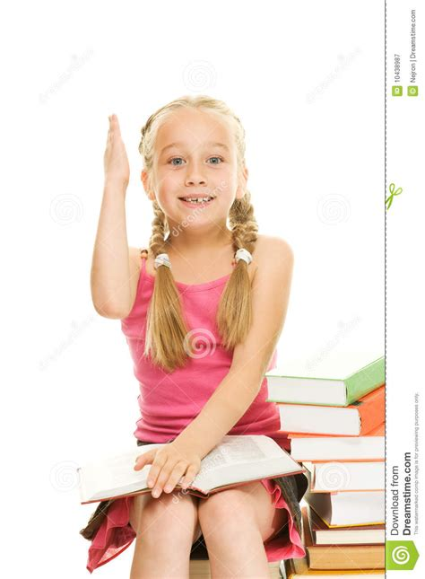 tiny petite little schoolgirl royalty free stock photography image