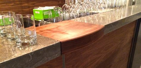 polished concrete bar top cast in place concrete countertops stdc