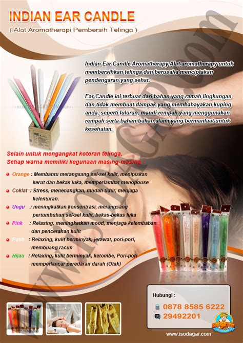 Ear Candle Indian Plastikperbox Isi 50 indian ear candle alat aromatherapi pembersih telinga