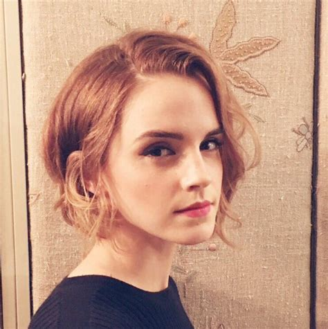emma watson hairstyle emma watson short bob hairstyle 2015