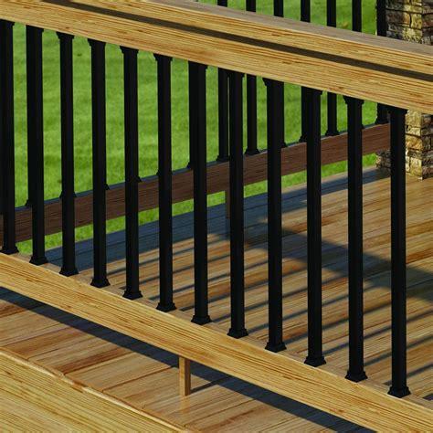 Black Metal Deck Balusters Deck Rails Entry Overhangs On Deck Railings