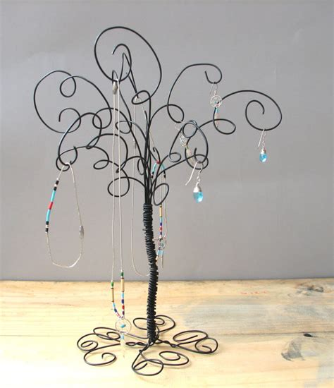how to make a wire jewelry tree wire jewelry organizer tree stand earring by tillagarden