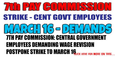 7th Pay Commission: Central government employees demanding