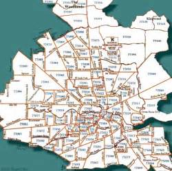 houston area code map houston map area codes