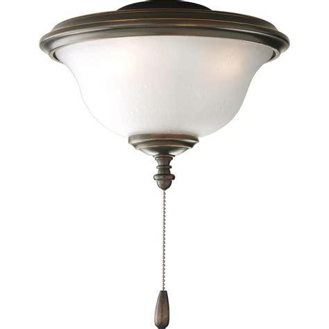 bronze ceiling fan light kit progress lighting fan light kits collection 2 light