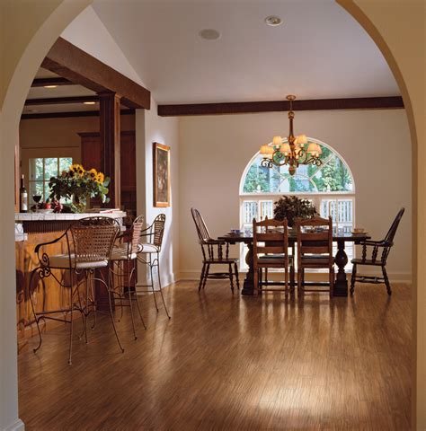 Dining Room Flooring Ideas Hickory Wood Floors Family Room Traditional With Wood Floor Dining Beeyoutifullife