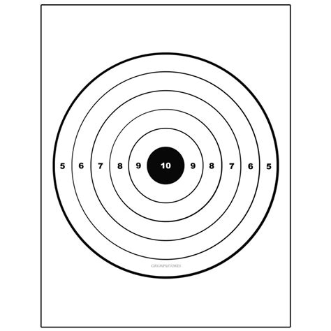 printable handgun targets 8 5x 11 the gallery for gt printable shooting targets 8 5 x 11