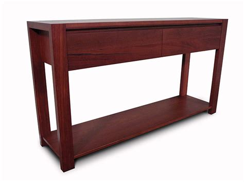 Lumino Jarrah 2 Drawer Hall Table   Living Elements