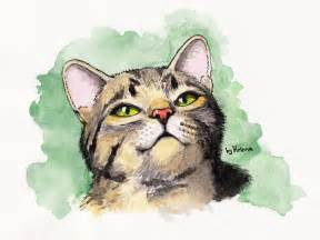 water color cat cat watercolor by krinna on deviantart