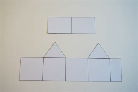 How To Make A House Out Of Paper - paper house ornament template 20 days of kid made ornaments