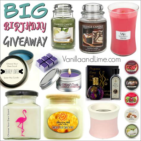 Birthday Giveaway - big birthday giveaway vanilla lime
