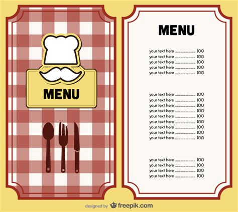 menu design eps file menu cover design vector vector free download